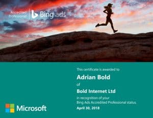 Bing Ads Exam April 2018