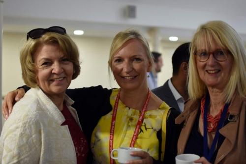 Pamela Bates, Linda Parkes and Tricia Charles