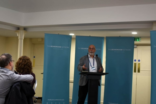 Michael Birchmore presenting